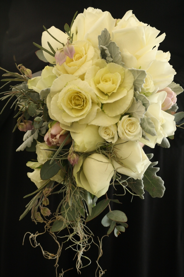 Vintage loose handtied wedding bouquet