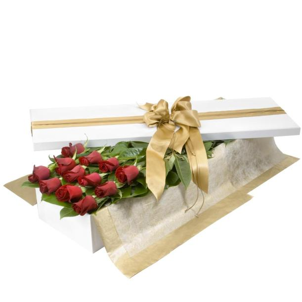 Presentation box of red roses by Sydney online florist